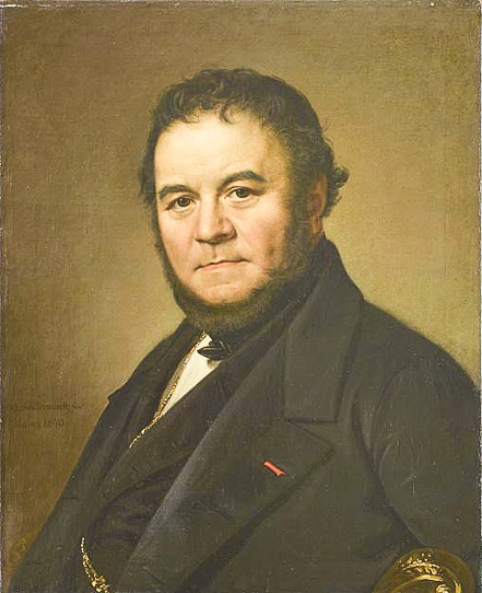 Stendhal, portrait by Johan Olaf Sodermark (1790-1848) in the collection of the Chateau of Versailles